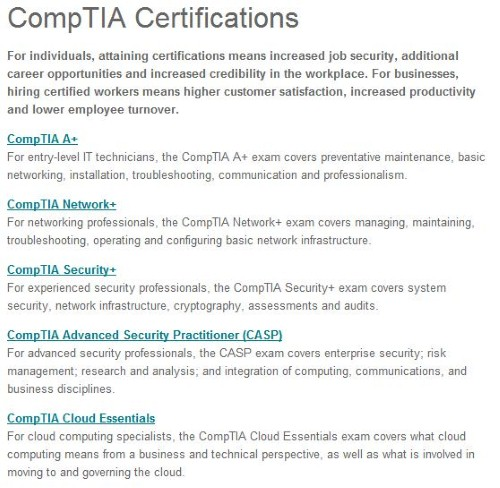Where\'s CompTIA\'s Cloud Essentials? | Pearson IT Certification