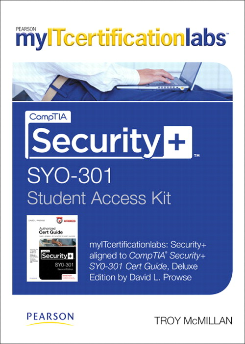 CompTIA Security+ (SYO-301) MyITCertificationlab -- Instant Access, 2nd Edition
