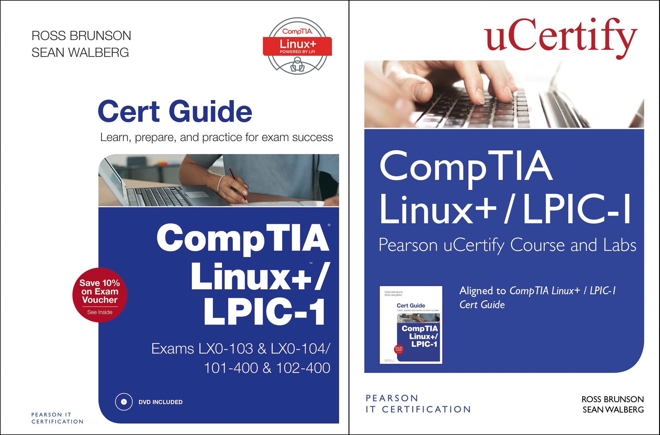 CompTIA Linux+ / LPIC-1 Textbook and Pearson uCertify Course and Labs Bundle