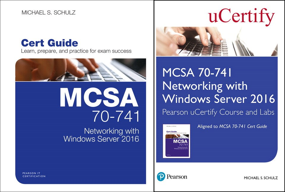 MCSA 70-741 Pearson uCertify Course and Labs and Textbook Bundle