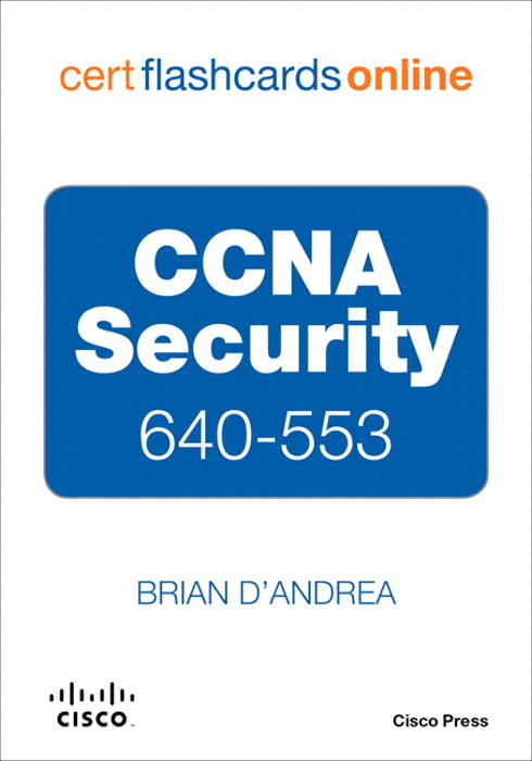 CCNA Security 640-553 Cert Flash Cards Online