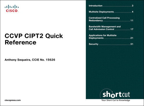 CCVP CIPT2 Quick Reference