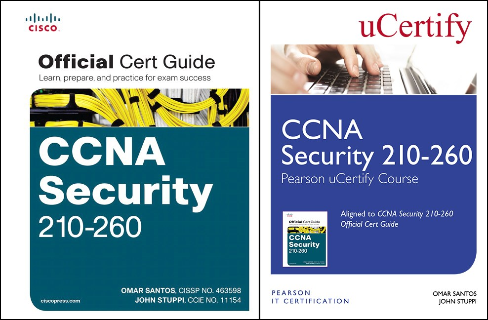 CCNA Security 210-260 Pearson uCertify Course and Textbook Bundle