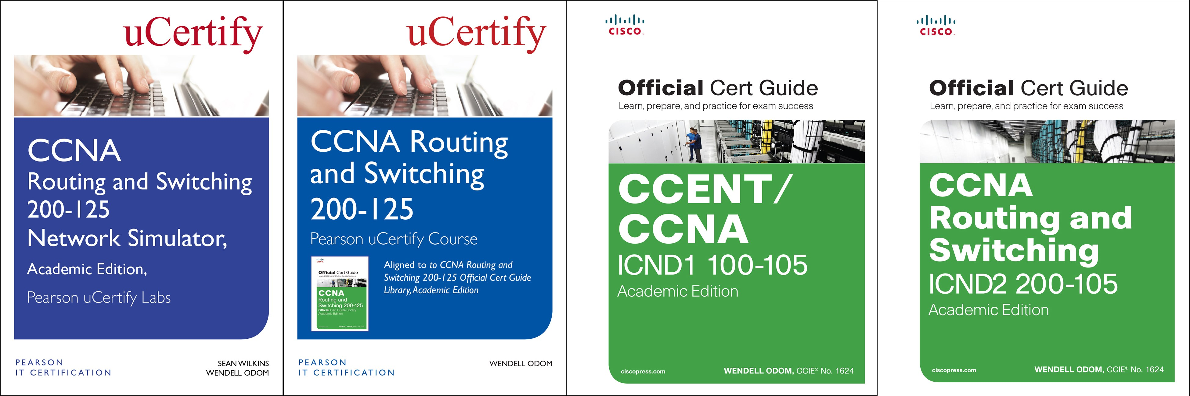 CCNA Routing and Switching 200-125 Pearson uCertify Course, Network Simulator, and Textbook Academic Edition Bundle
