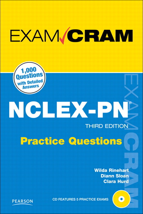 NCLEX-PN Practice Questions Exam Cram, 3rd Edition