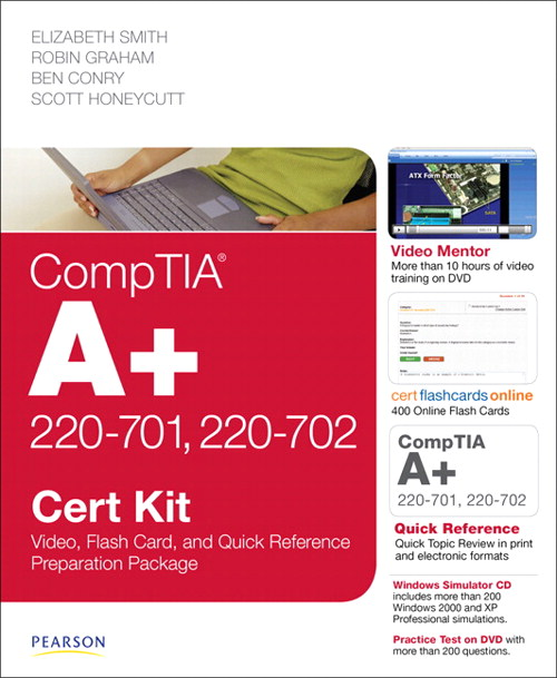 CompTIA A+ 220-701 and 220-702 Cert Kit: Video, Flash Card and Quick Reference Preparation Package