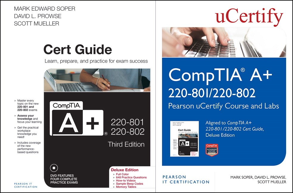 CompTIA A+ 220-801/220-802 Pearson uCertify Course and Labs and Textbook Bundle
