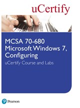 MCSA 70-680 Microsoft Windows 7, Configuring uCertify Course and Labs