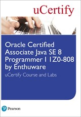 Oracle Certified Associate Java SE 8 Programmer I 1Z0-808 by Enthuware uCertify Course and Labs Student Access Card
