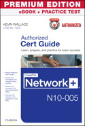 CompTIA Network+ N10-005 Authorized Cert Guide, Premium Edition eBook and Practice Test