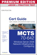 MCTS 70-642 Cert Guide, Premium Edition eBook and Practice Test