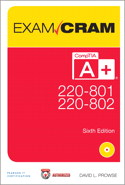 CompTIA A+ 220-801 and 220-802 Authorized Exam Cram, 6th Edition